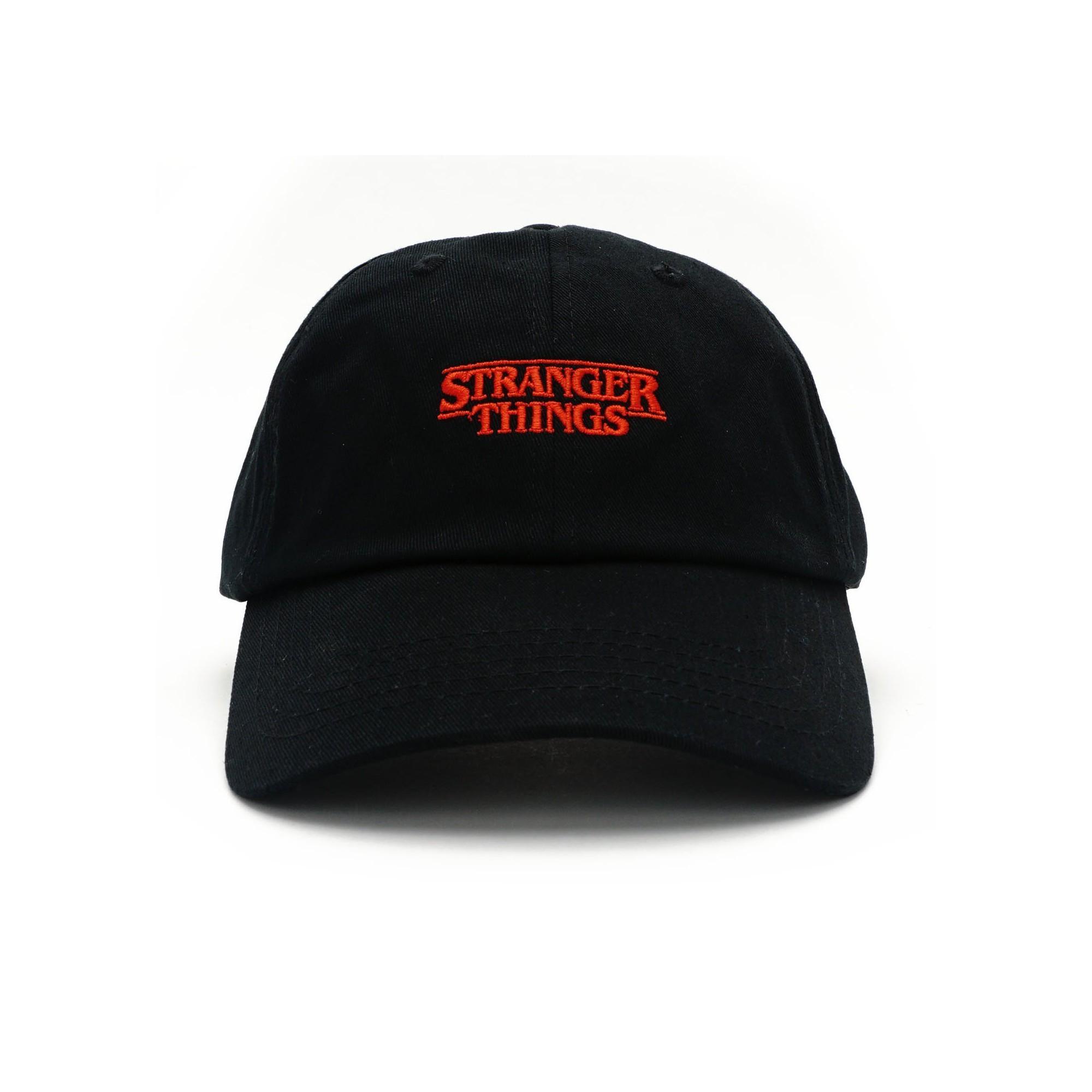 c967e0de3ae1c Loungefly Stranger Things Logo Black Baseball Hat