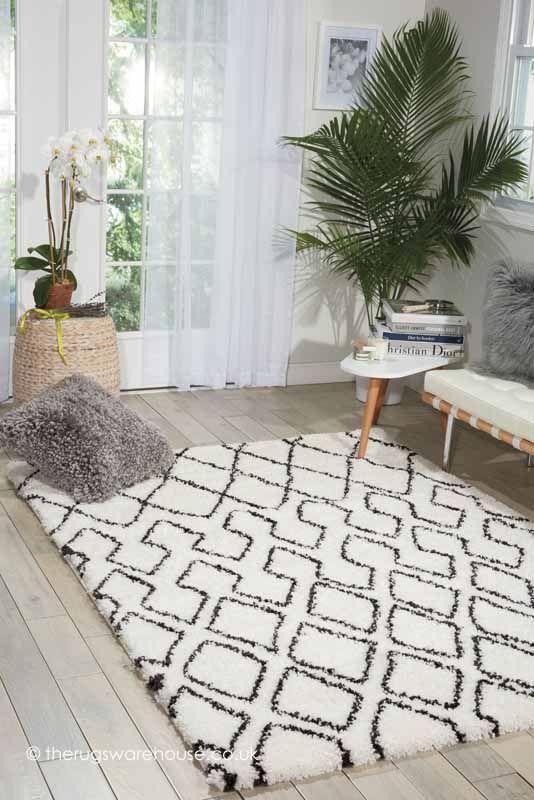 Riad Ivory Charcoal Rug Calvin Klein Home A Soft And Dense Modern Shaggy