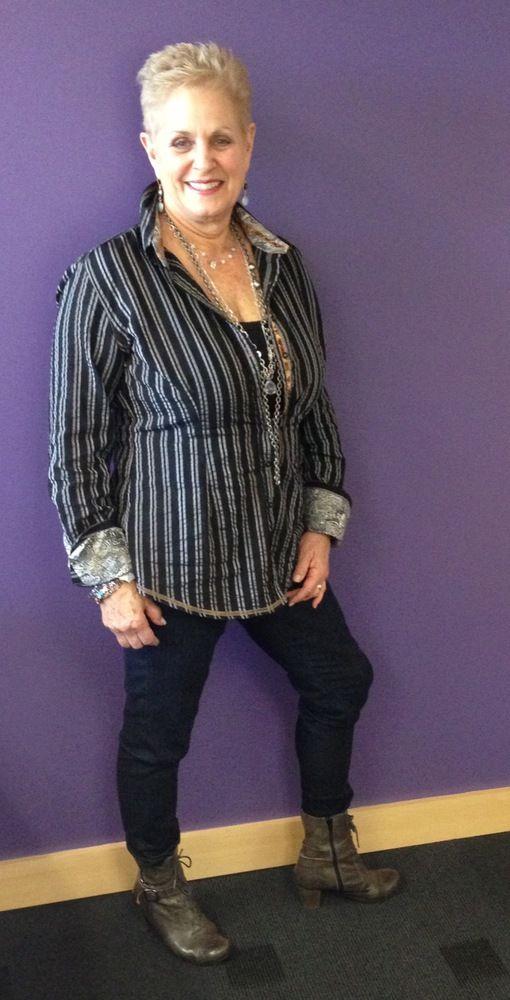 Old lady dress fashionable