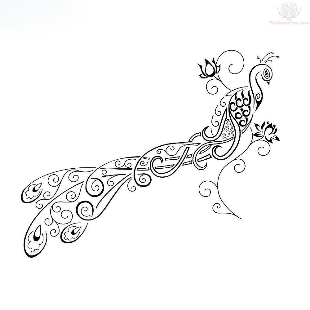 Tribal Peacock Tattoo Design Peacock Tattoo Peacock Feather Tattoo Feather Tattoo Design