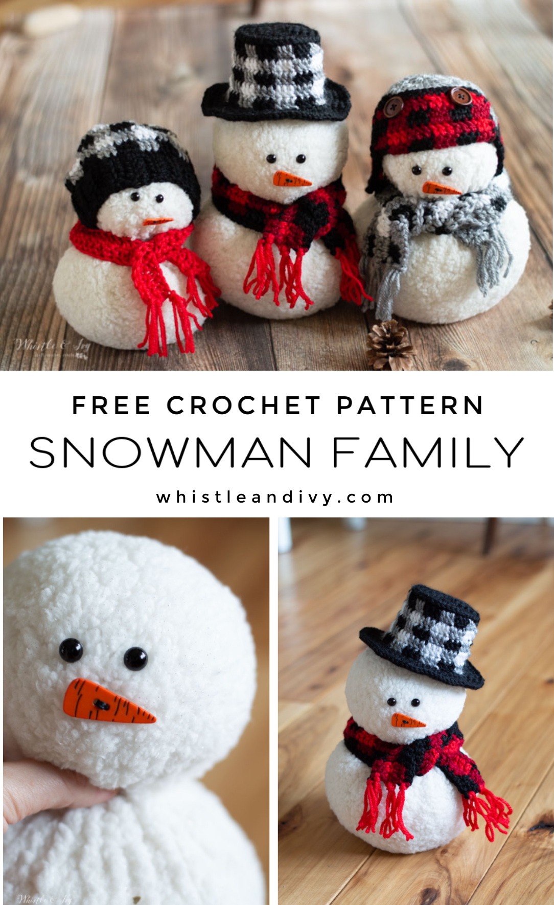 Photo of Sheepskin and Crochet Snowman – Free Pattern – Whistle and Ivy