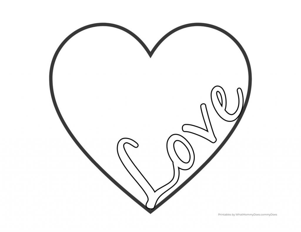 Love Heart Coloring Pages Free Printables In 2021 Heart Coloring Pages Free Printable Coloring Pages Coloring Pages