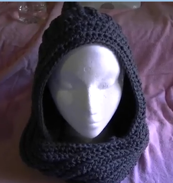 Scoodie (scarf crossed with a hoodie) Free Pattern | mützenschal ...