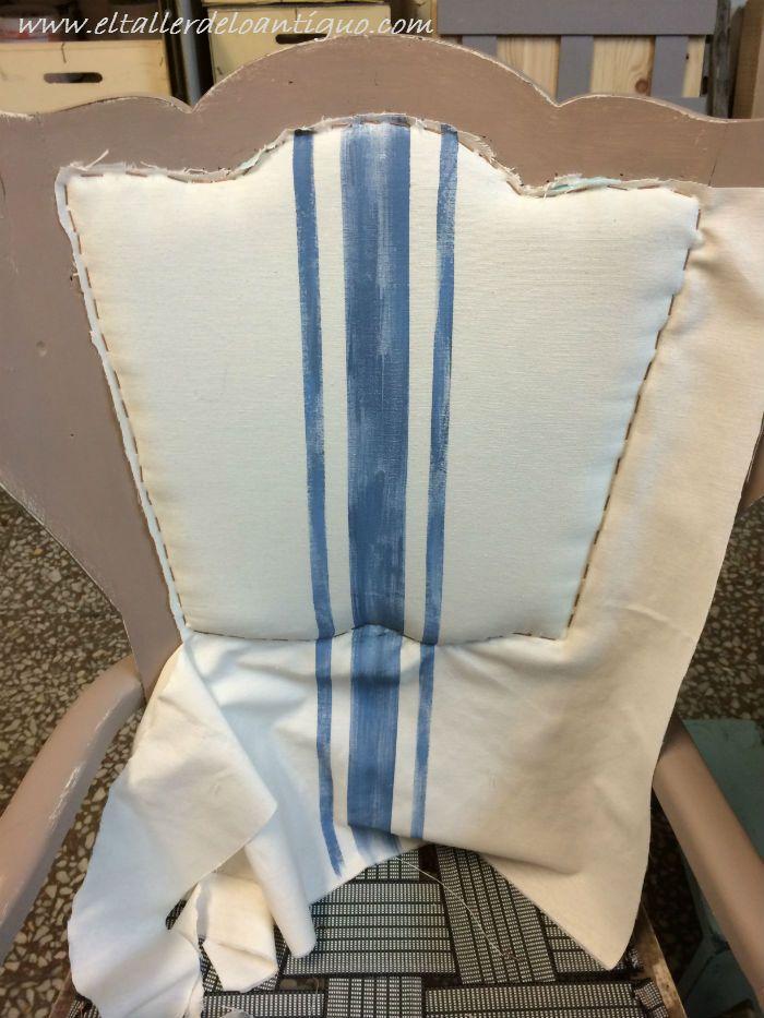 Como tapizar un respaldo de silla paso a paso como se - Tapizar butaca paso a paso ...