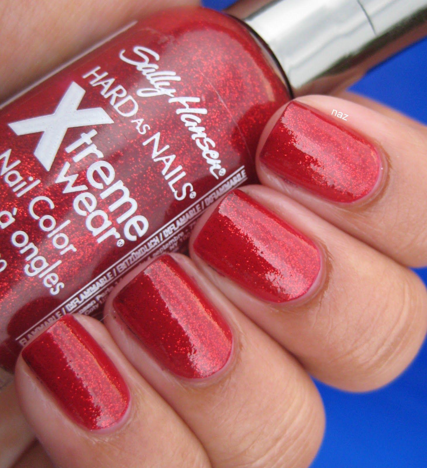 Sally Hansen Xtreme Wear 390 Red Carpet Nail colors