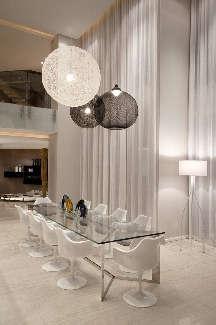 Love the lighting but not the plastic chairs ooh the floor tiles are pretty though