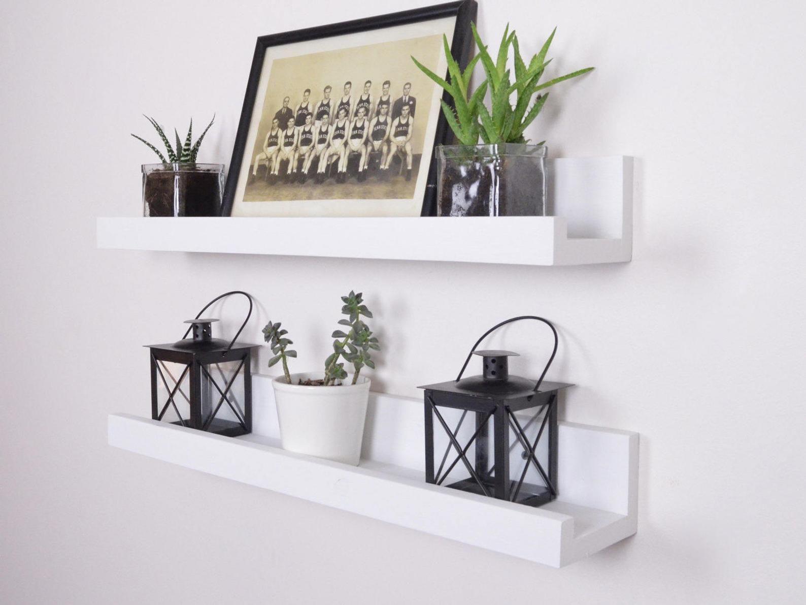 White Picture Ledge Free Shipping White Ledge Shelf Etsy In 2020 Ledge Shelf Floating Shelves Shelves