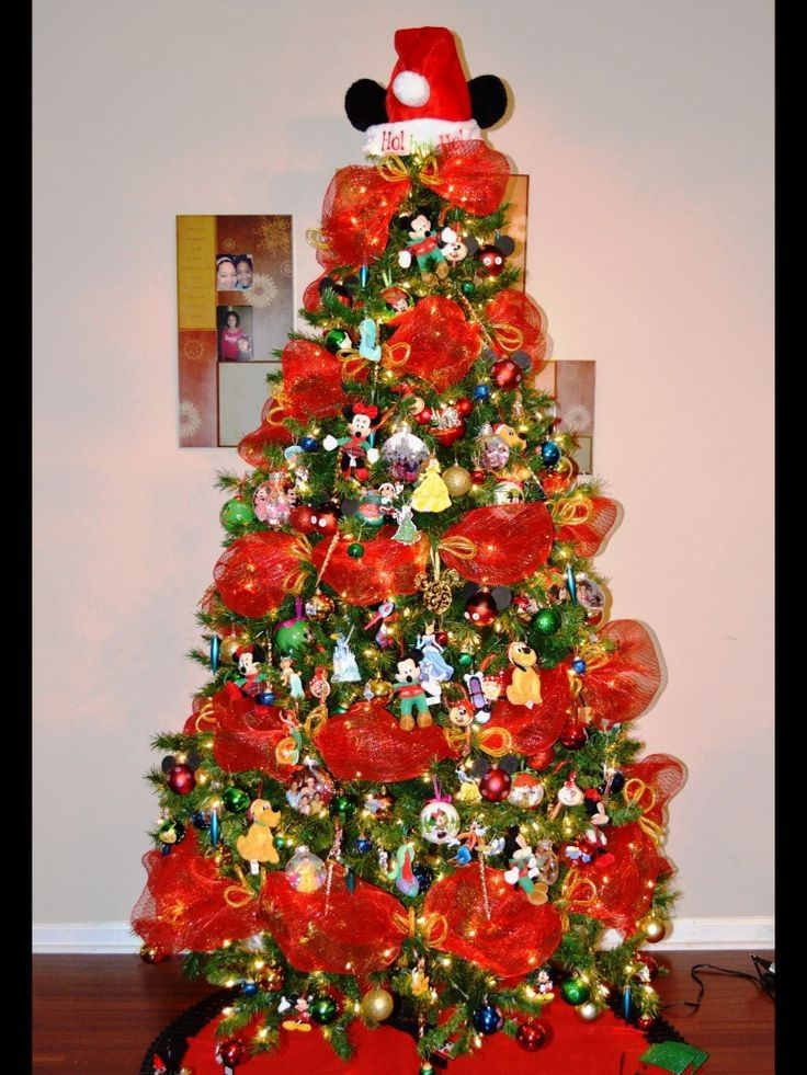 Christmas Tree Decorations Ideas Mickey Mouse Tree Disney World Christmas Christmas Disney Christmas Decorations