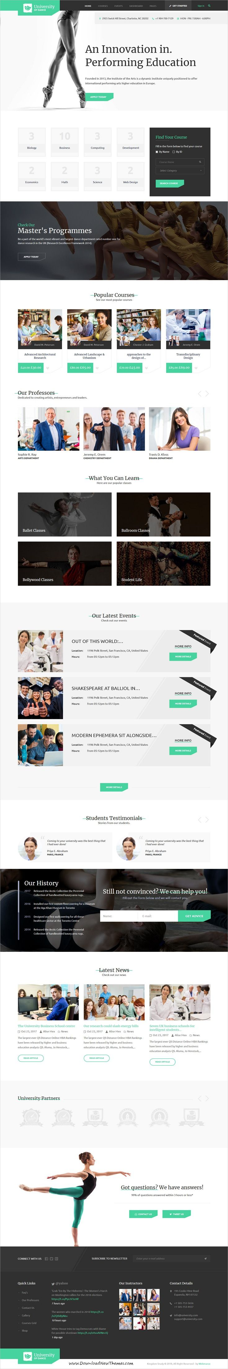 Kingdom Study Is Clean And Modern Design 4in1 Responsive Wordpress Theme For College Online Courses And Lms Learning Management System Website To Live Previ