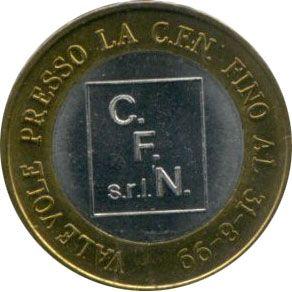 Euro Prueba Italia 1 Euro C F N Milan Monedas Sellos Euro