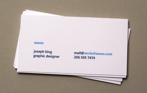 business card - waves
