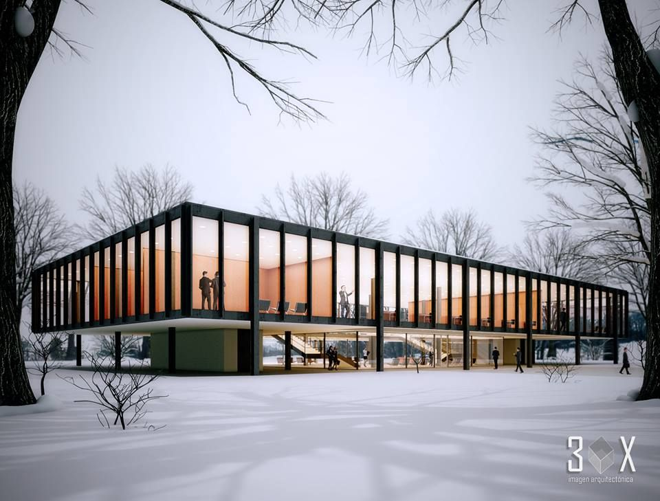 Mies van der Rohe Bacard office building Tultitln State of