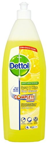 Dettol Complete Clean Anti Bacterial Spray And Wipe Floor Cleaner 1 L Citrus Pack Of 3 Dettol Spray Floor Cleaner Cleaning