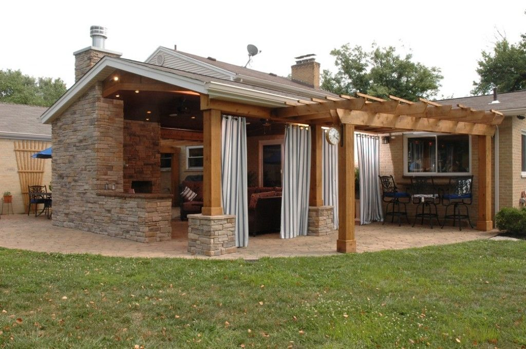 Adding drapes to your outdoor space is a stylish way to ...