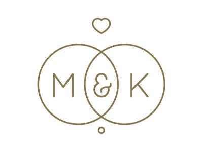 MK Wedding Logo Wedding logos Logos and Weddings