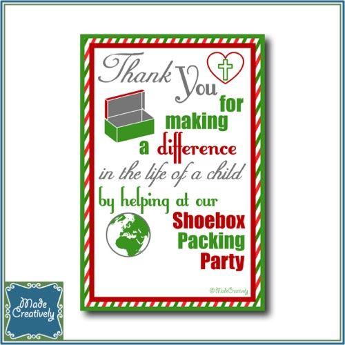 Operation Christmas Child Shoebox Clip Art.Digital Shoebox Packing Party Thank You Operation