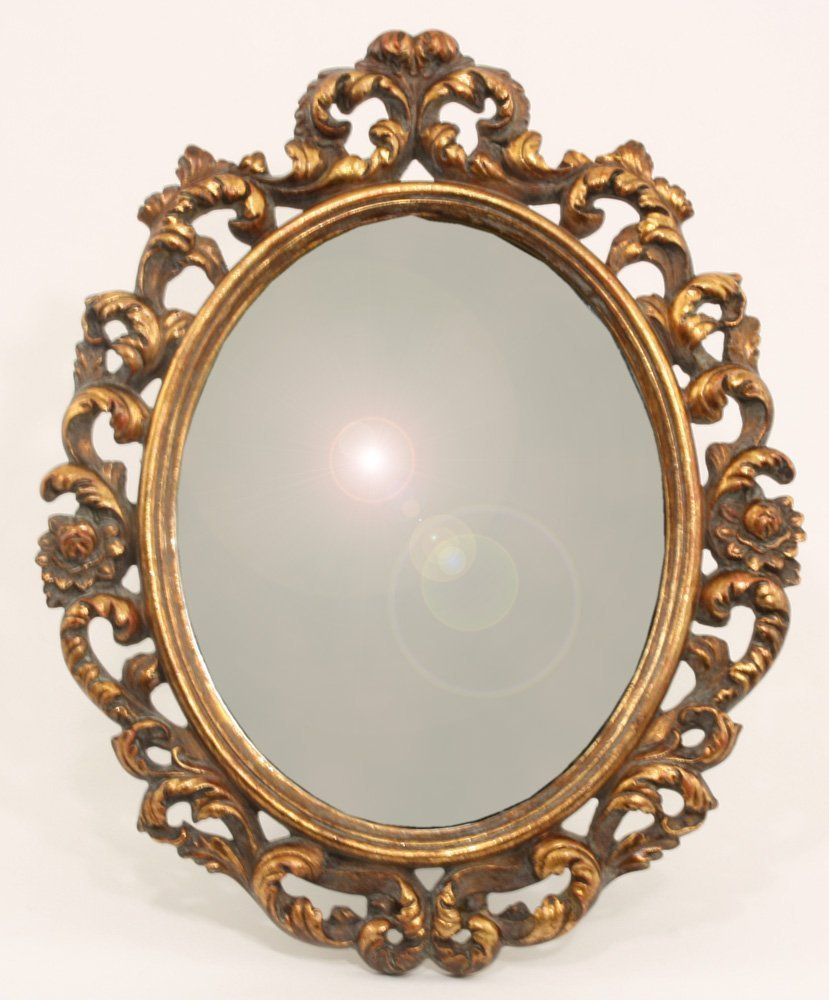 Mirrors Small: Ornate Antique Gold Small Oval Mirror: Amazon.co.uk