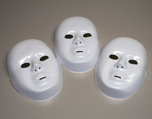Plastic Masks To Decorate Plastic White Full Masks  Fun Costumes And Masking