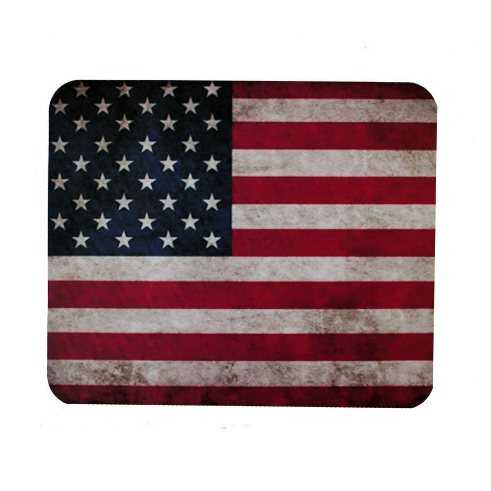 Rugged Usa American Flag Mouse Pad Mat Computer Desk Accessories Red White Blue Purpleleopard American Flag Purple Leopard Flag