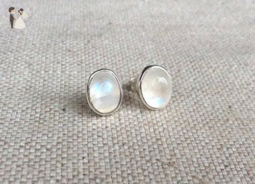 Rainbow Moonstone Stud Earrings Wedding Earings Partner Link