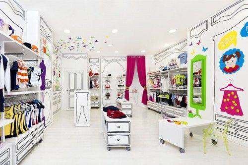 cheap kids clothing store interior design idea | Kids stuff ...