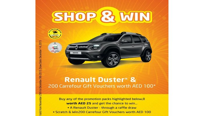 Shop And Win At Carrefour Renault Duster And 200 Carrefour Gift