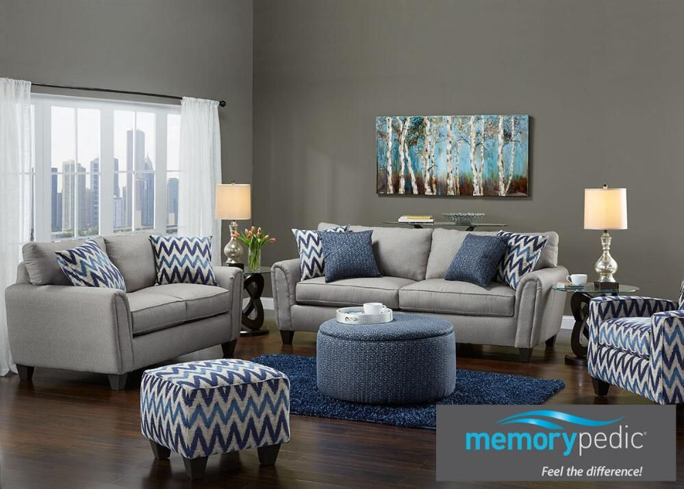 Indigo 3 Pc Living Room W Accent Chair With Images Living
