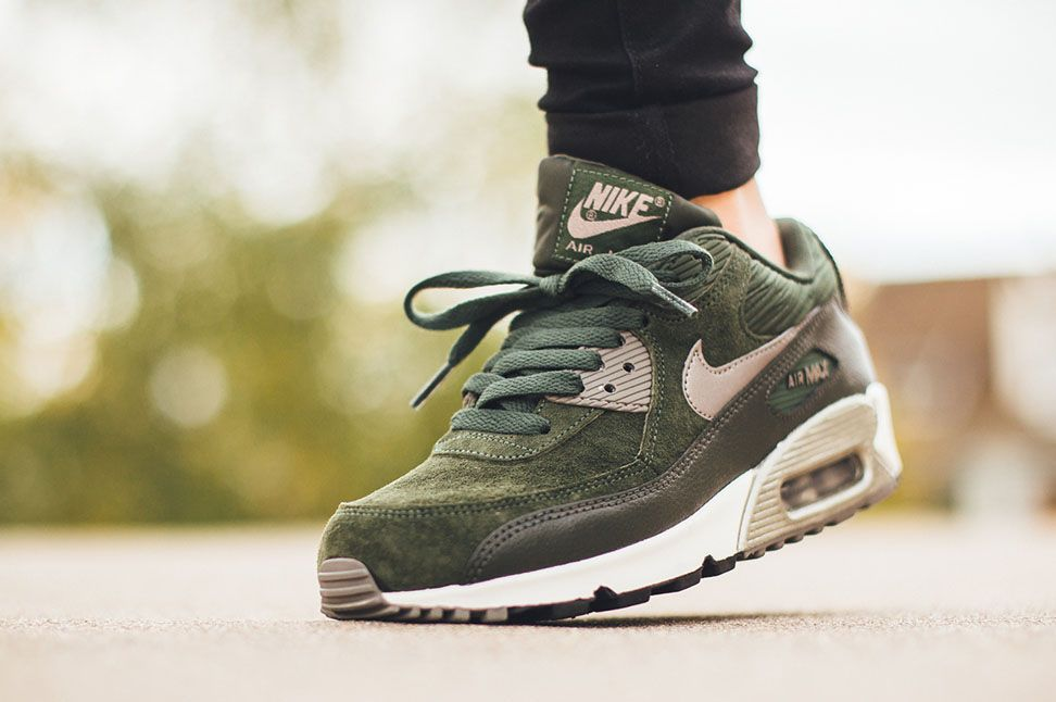 Nike WMNS Air Max 90 Leather Carbon Green | Nike air max
