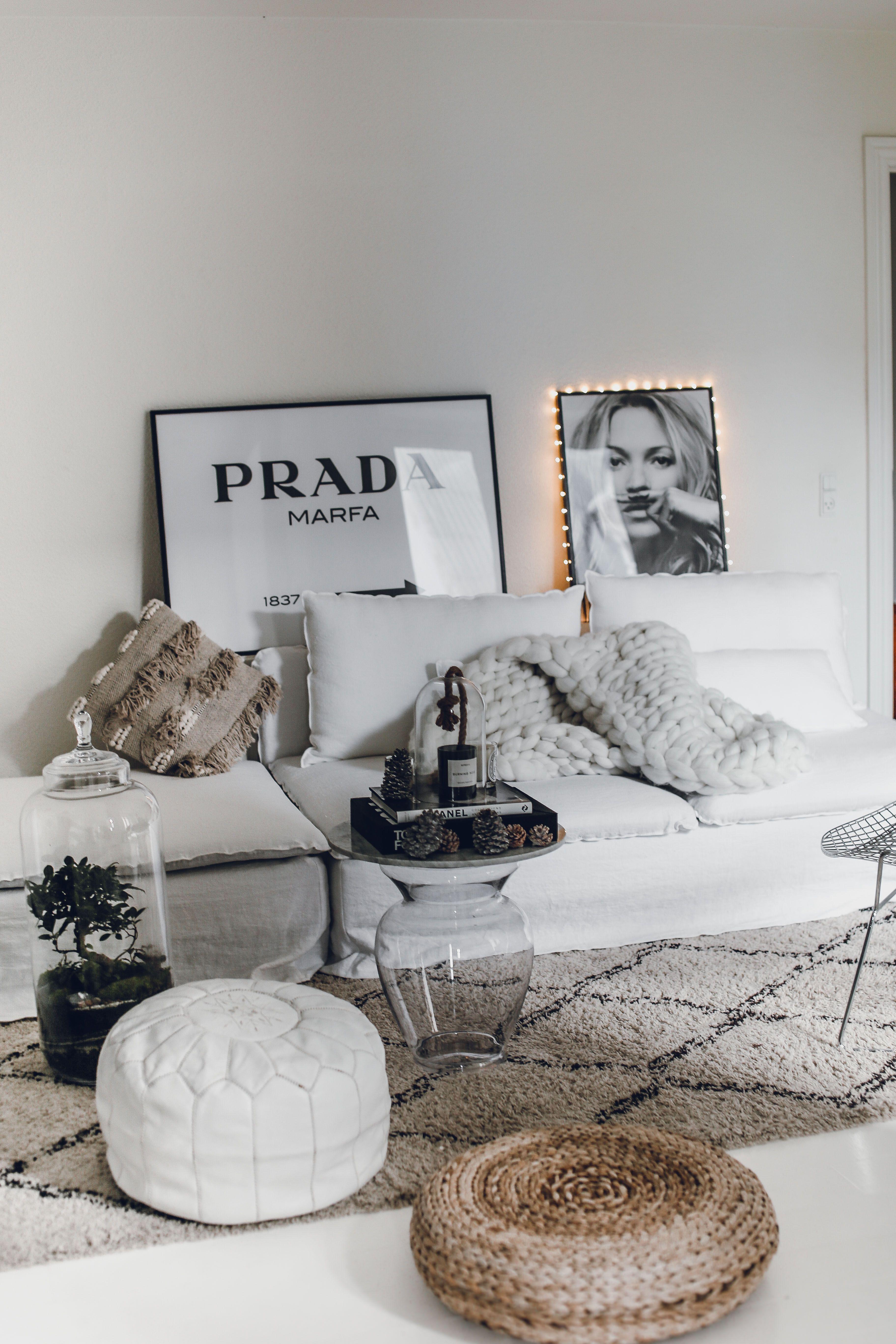 Layered White Boho Chic Living Room White Linen Sofa Danish Blogger Mowo Blog Updated Her Ikea So Living Room White Living Room Grey Grey Paint Living Room