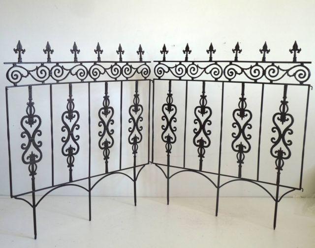 2 grille a piquet barriere cloture tuteur pour plante. Black Bedroom Furniture Sets. Home Design Ideas