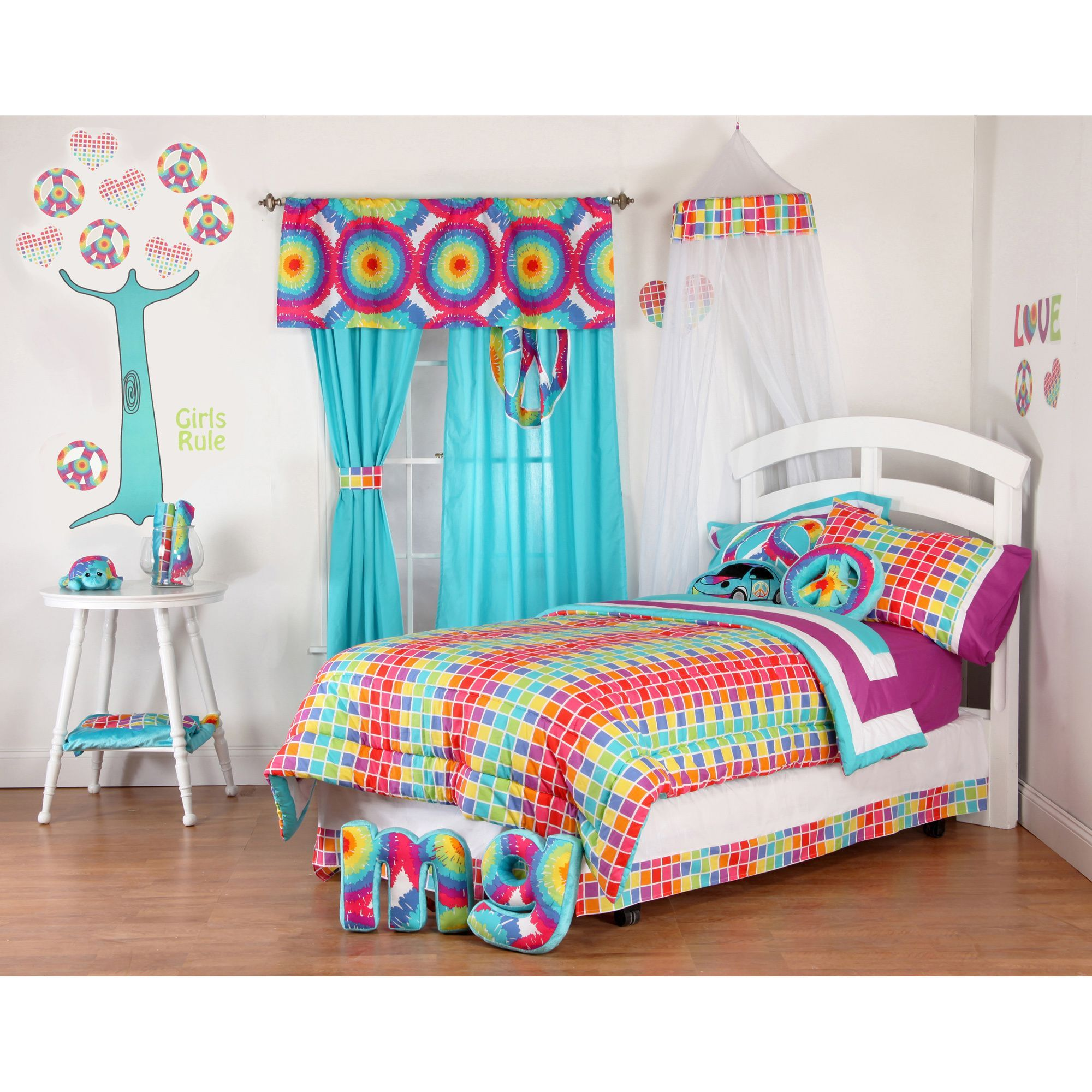 Terrific Tie Dye 8 piece Bed in a Bag with Sheet Set Overstock