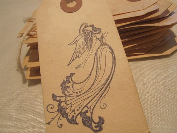 Distressed Gift Tags / Religiuos / Guardian Angel by TeatroRosso, $4.99