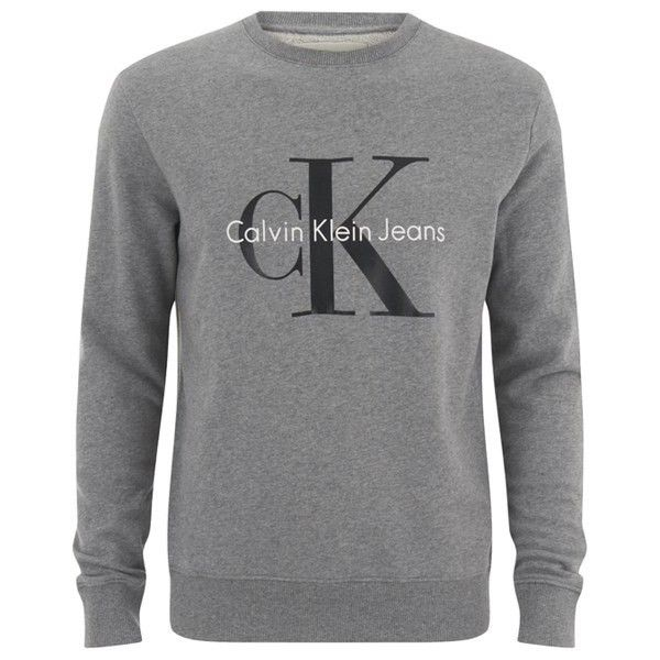 Calvin Klein Men S 90 S Re Issue Sweatshirt Light Grey Heather 140 Liked On Polyvore Featuring Mens M Mens Outfits Mens Casual Outfits Calvin Klein Men