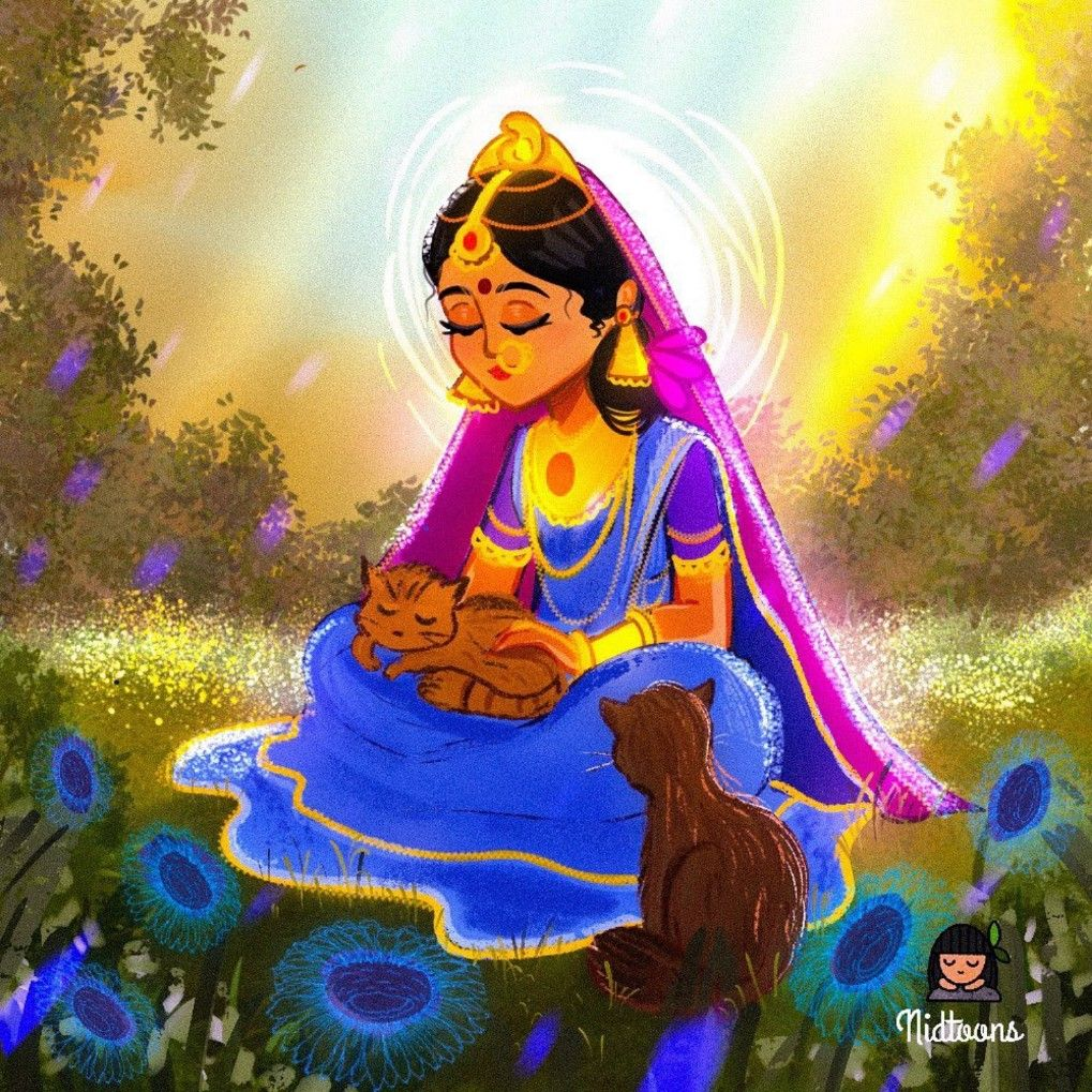 HD File Shri Krishna with Shri Radha in green beautiful garden 4k High quality wallpaper Bhakti Yoga