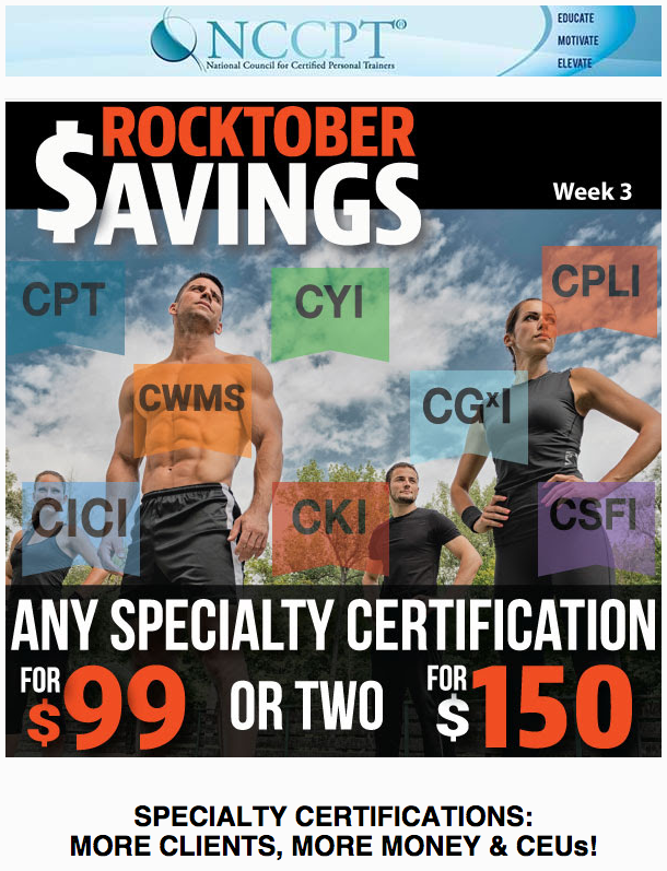 Our Rocktober Certification Blowout Sale!! #NCCPT #fitness #workout ...