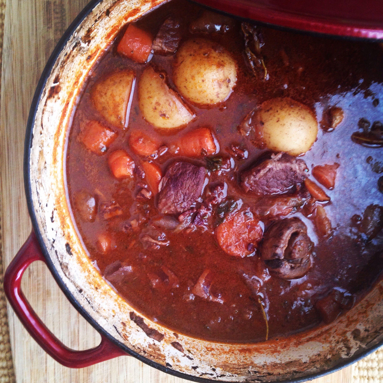 Julia Child S Boeuf Bourguignon Baked In The South Recipe Recipes Beef Bourguignon Pot Roast