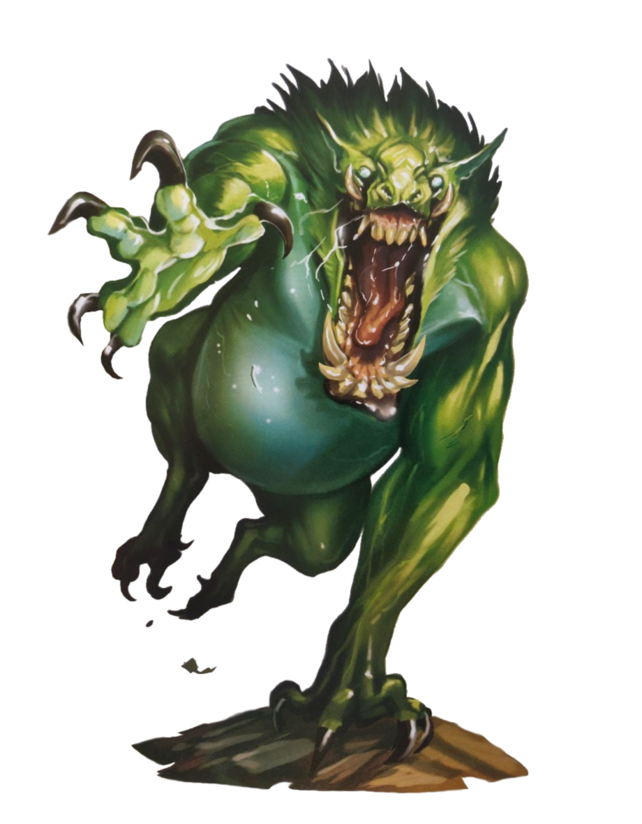 Male Troll 2E - Pathfinder 2E PFRPG DND D&D 3 5 5E 5th ed
