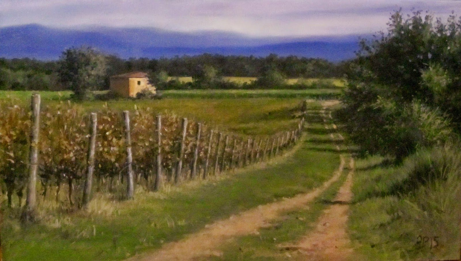 Painting Tuscany: VINEYARDS