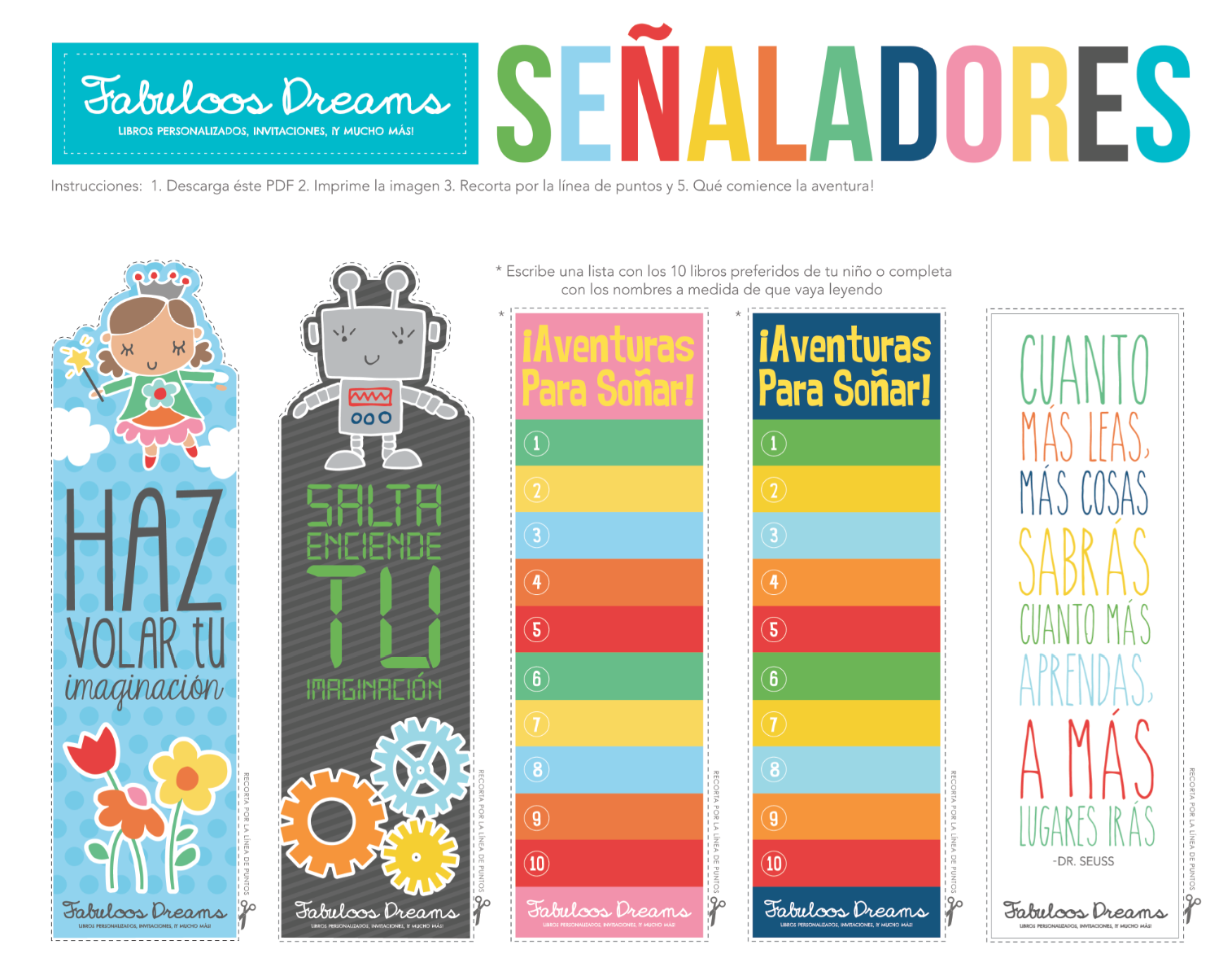 Free Printable Bookmarks for Kids | Bookmarks, Spanish and Free