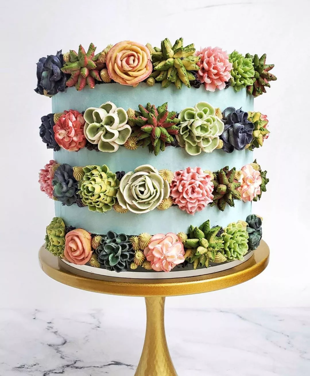 Incredibly Detailed Succulent Cakes Are Too Pretty To Eat