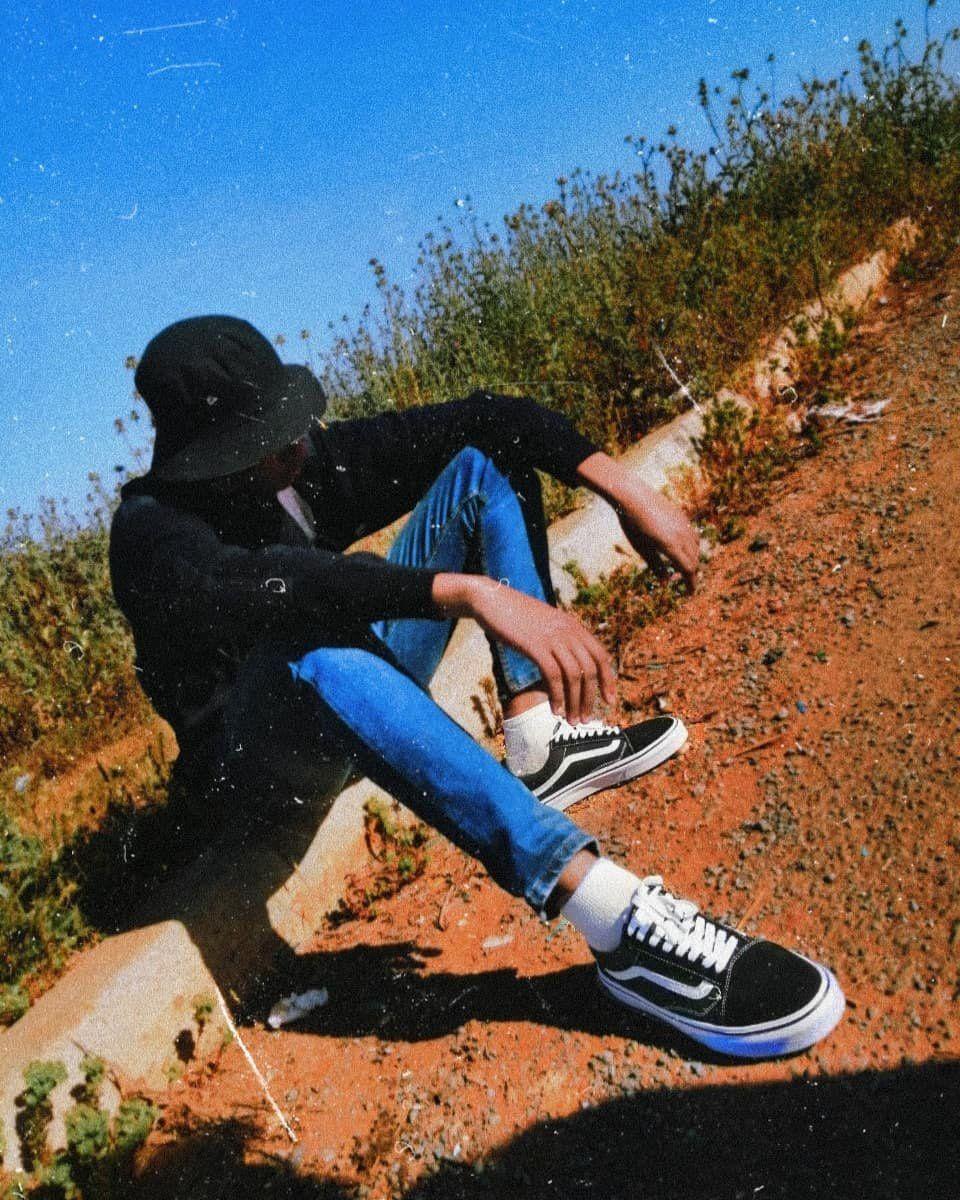 Vans Old Skool Skate Shoe - Black in