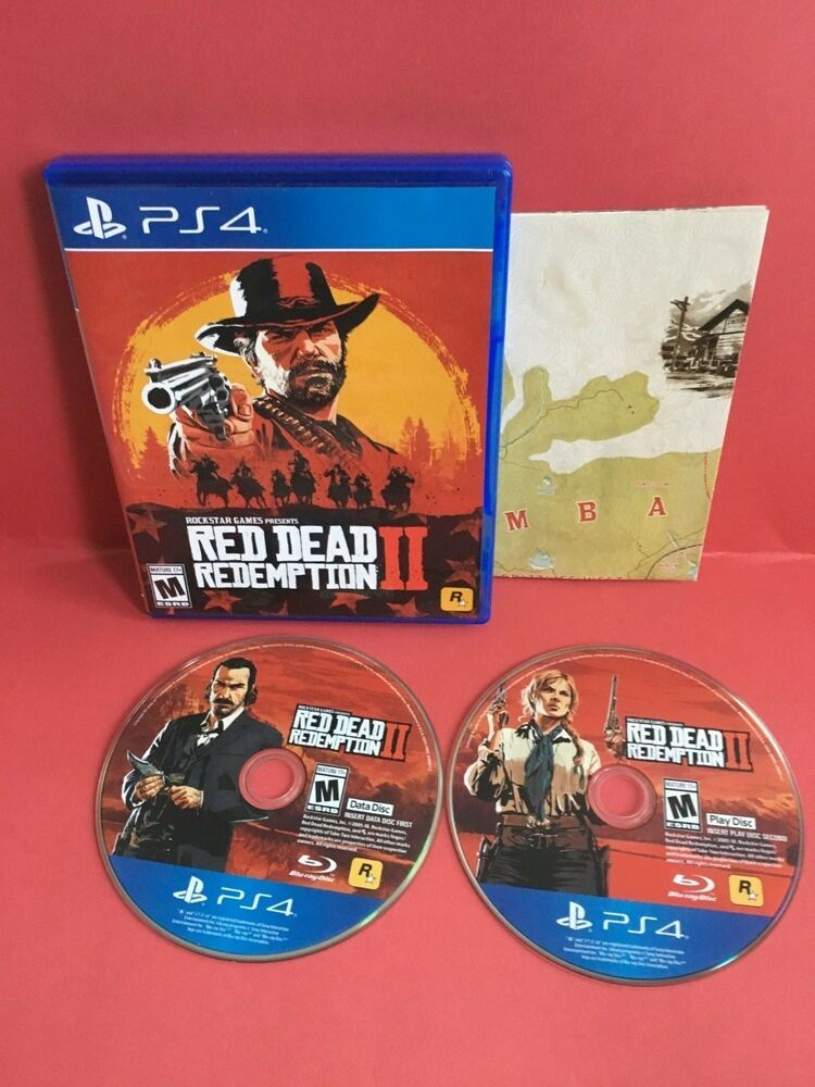 Ps4 Red Dead Redemption 2 Ii Rockstar Games Excellent Disc Comes W Map Reddeadredemption Gaming Xb Red Dead Redemption Ii Red Dead Redemption Redemption