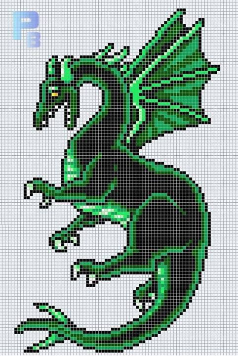 Final Fantasy 6 Dragon Bead Sprite Magnet Bugelperlen