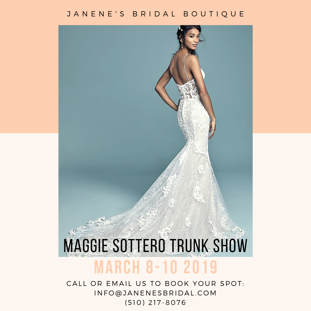 54cb12e1caa8 Maggie Sottero trunk show. Find this wedding dress and more at Janene's  Bridal Boutique located
