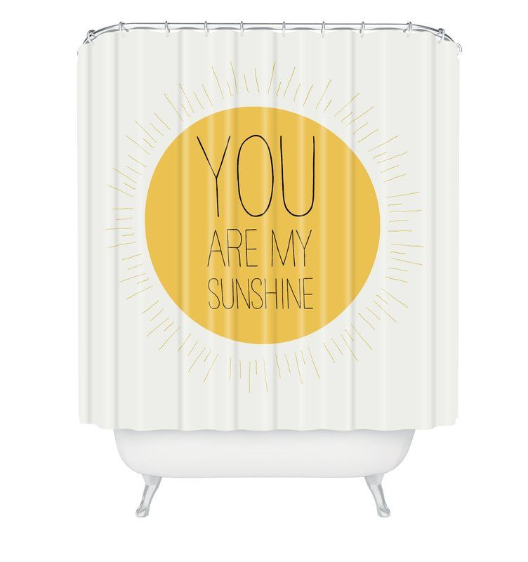 Allyson Johnson You Are My Sunshine Single Shower Curtain My