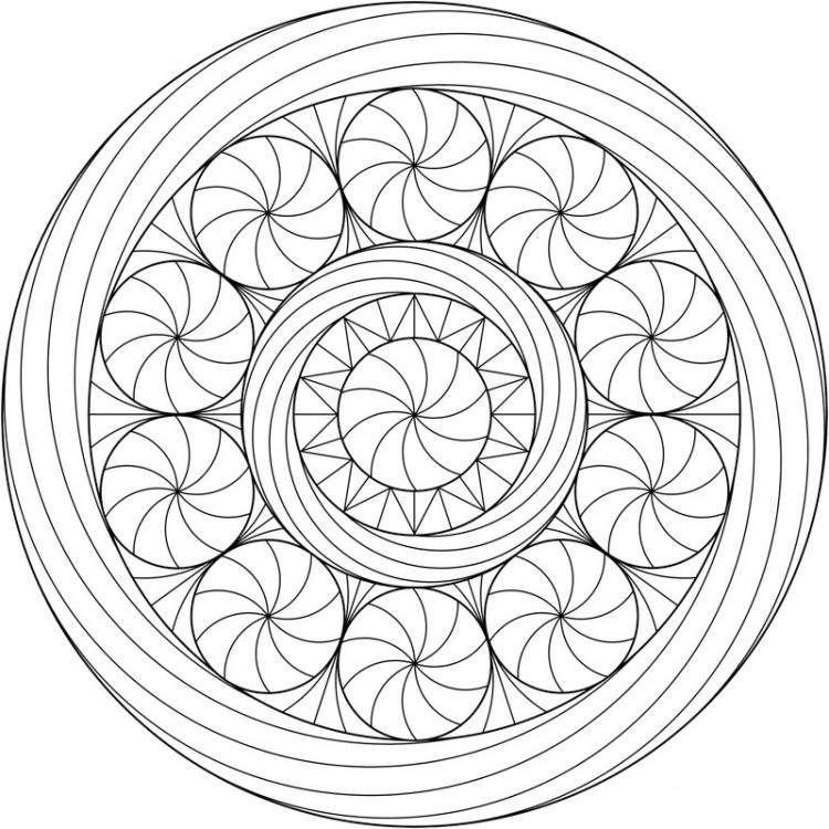 abstrakte Kürbisse oder Spirale als Mandala für Halloween | schule ...