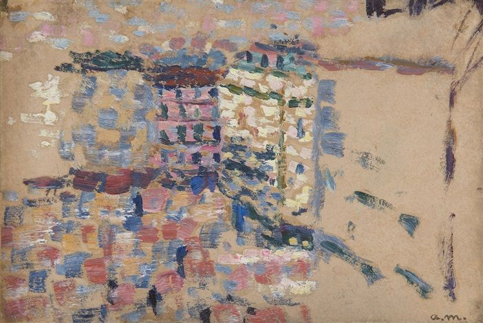 Vue de la Fenêtre, rue Monge à Paris par Albert Marquet tableaux - peinture porte et fenetre