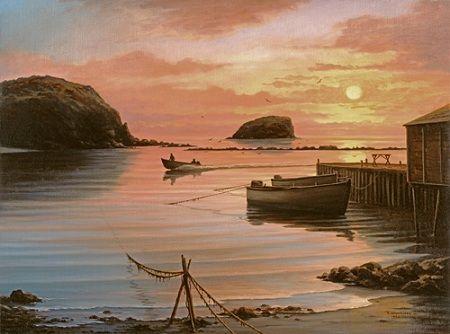 Newfoundland Art - Ted Stuckless   Art, Landscape art, Landscape paintings