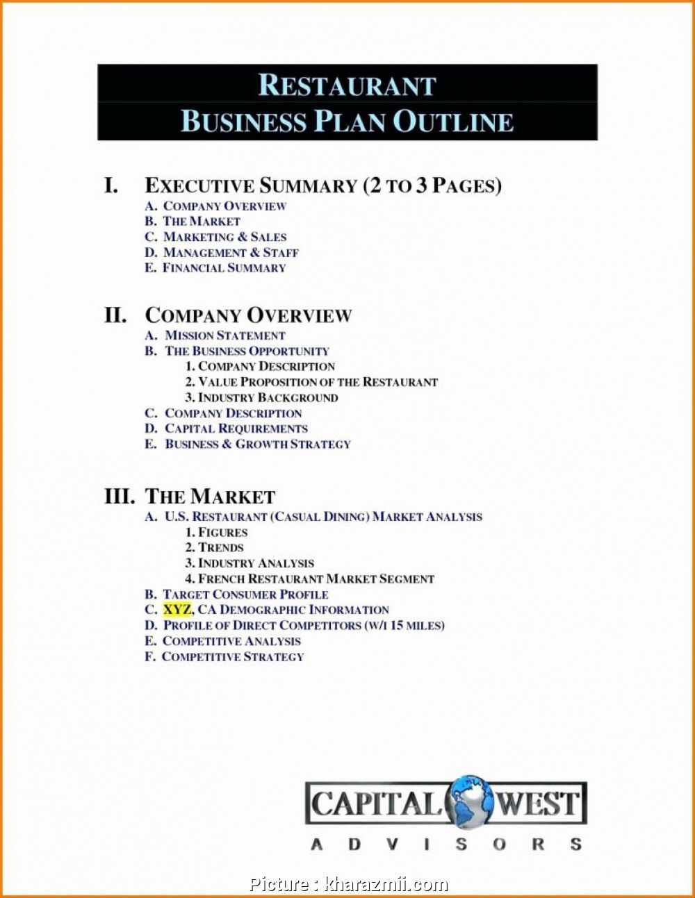 Sample Business Plan Template Best Of Free Printable