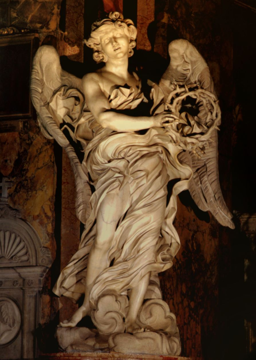 bernini gian lorenzo italian naples rome angel  gian lorenzo bernini angel the crown of thorns